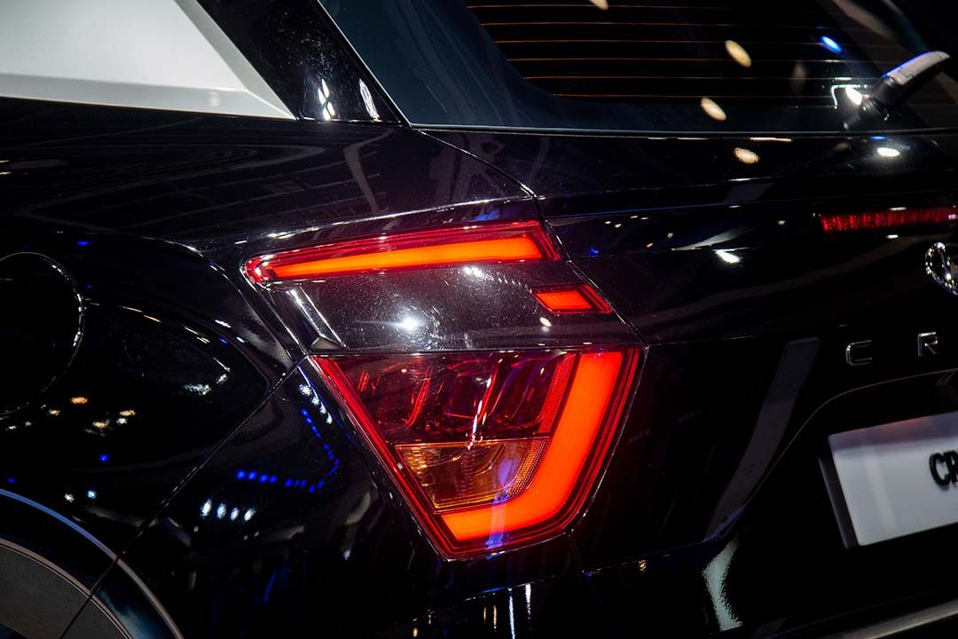 The tail lamps of the new Creta have been revamped