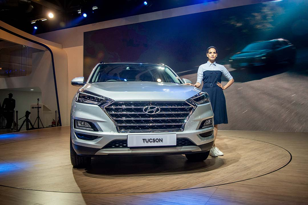 Unveiled at the AUto Expo, the Tucson facelift gets a revised design