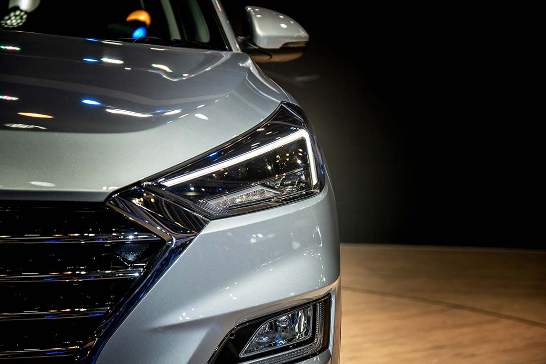 The Tucson facelift gets what Hyundai calls Penta-projector headlamps