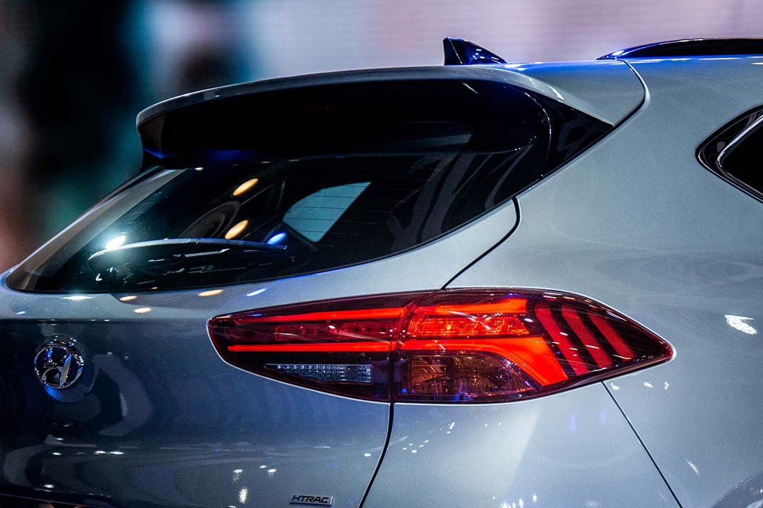 The Tucson's wrap around LED tail lamps