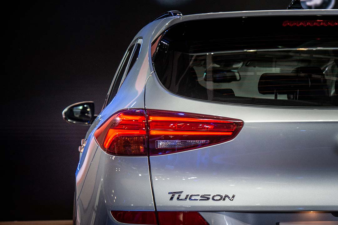 The tail lamps have been revised on the Tucson facelift